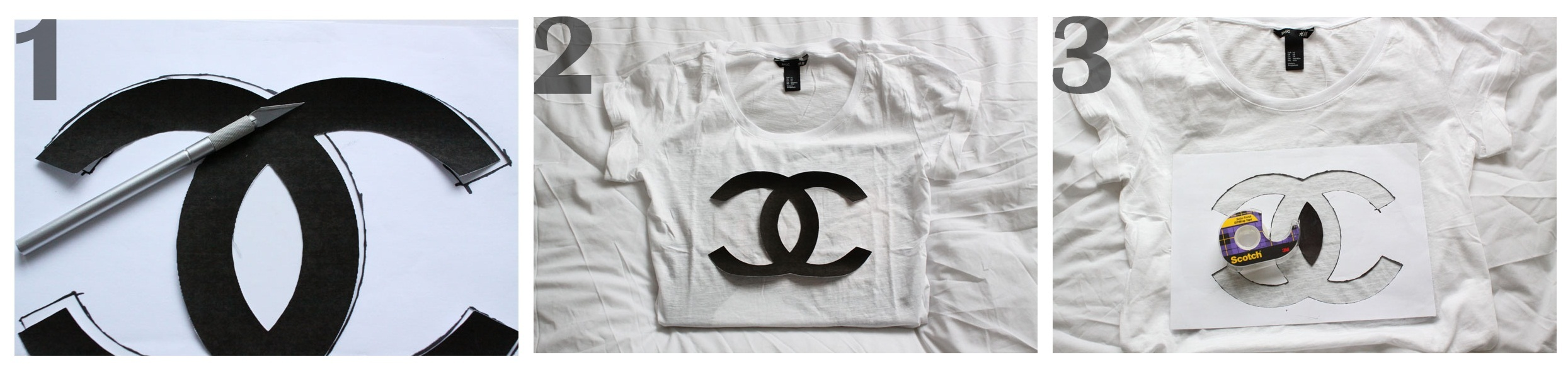 DIY Make Your Own Chanel TShirt By Natasha