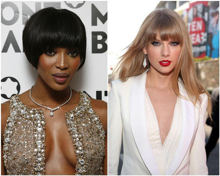naomi campbell_taylor swift_bangs hairstyle for 2013_2014