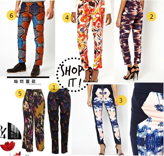 #where to buy print pants trouserstJ