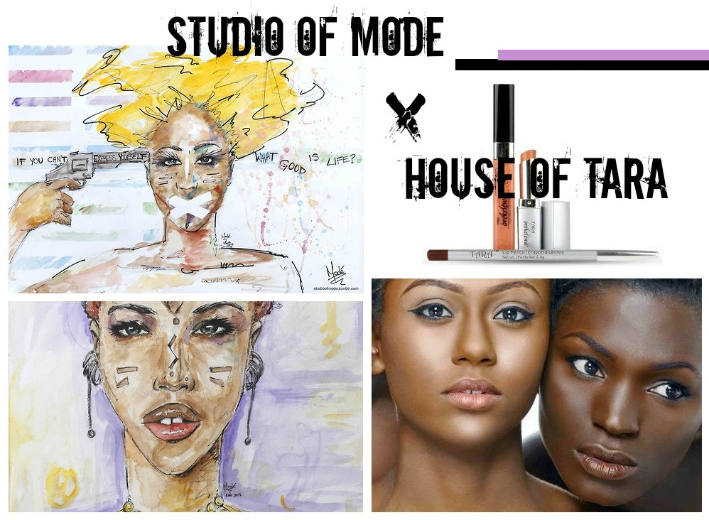 nigerian artist studio of mode collaborates with make up brand house of tara_nigerian fashion blogger