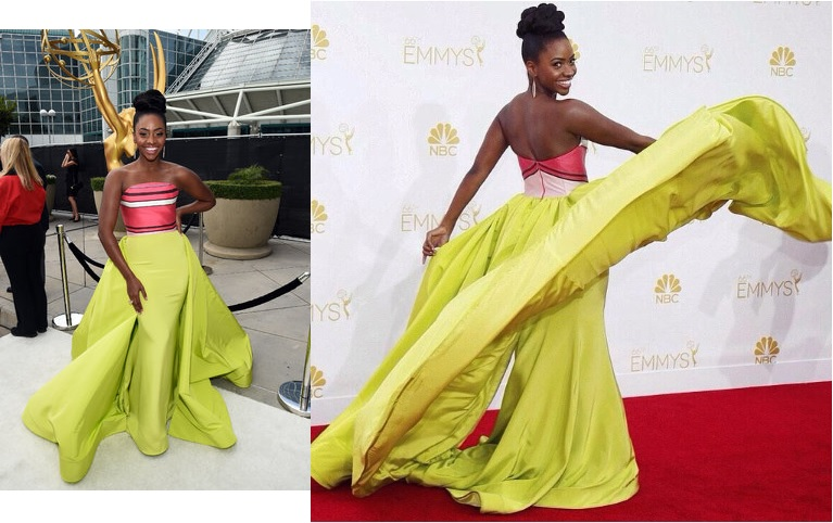 teyonah-parris-emmys-red-carpet-2014-dress-christian-siriano
