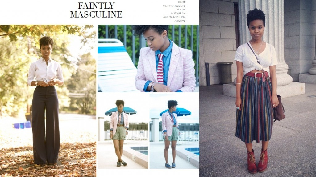 faintly masculine androgynous style blog
