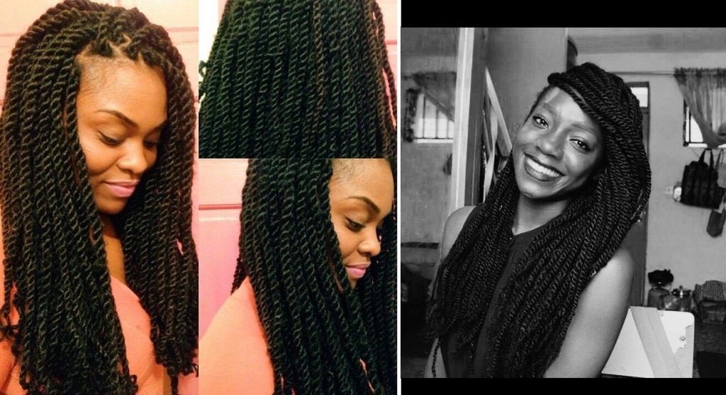 natural hair protective braid style kinky twists diy