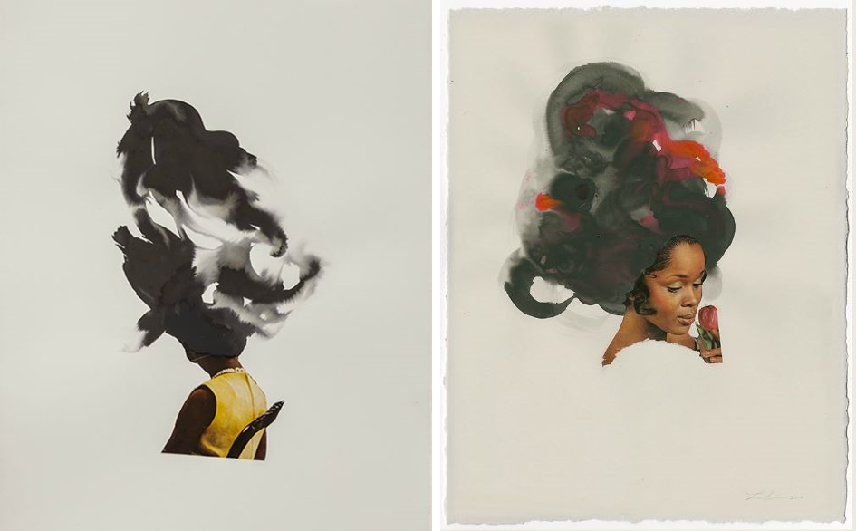 seated cloud-tulip-lonra-simpson-art-photography-ebony-collage-African-America-black-woman-contemporary-artist